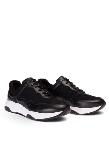 Deery Hakiki Deri  Sneakers Siyah